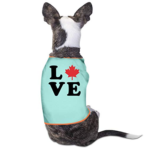 LNUO-2 Pet T-Shirts, Love Canada Maple Leaf Dog Cat Vest -