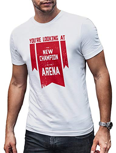 (LeRageNew Champion of The Arena Tee Shirt Compatible with Apex Legends Gamers Men's Large)