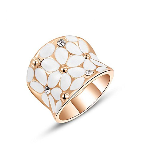 Winter.Z Noble and Elegant Ladies Jewelry Popular Explosion Models Austria (Gold Tip Flower Ring)