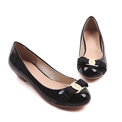 Nonbrand Ladies office wear bow ballerinas elegant ballet flats shoes Black ov56wMDwx