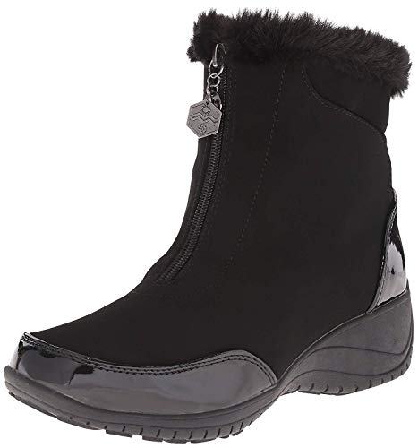 Khombu Women's Alice KH Cold Weather Boot, Black Patent Combo, 10 M US