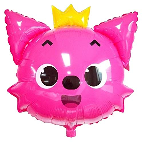 Pinkfong Pink Fox Helium Balloon 24 inch Birthday Decorations Picnic Party Supplies Baby Showers