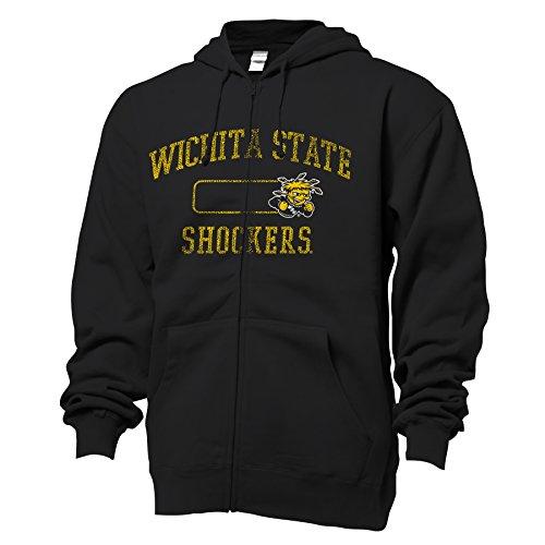 NCAA Wichita State Shockers Benchmark Full Zip Hooded Sweatshirt, Black, XX-Large