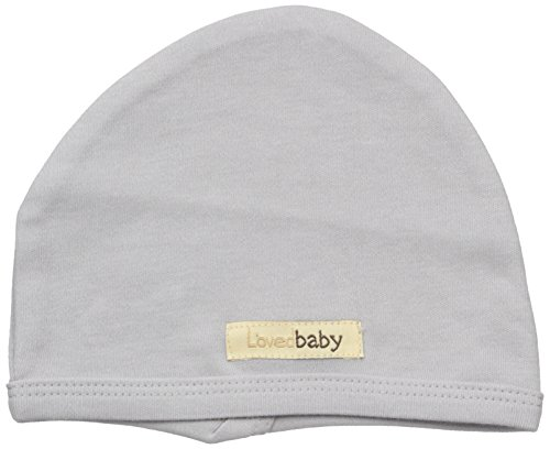 L'ovedbaby Baby Organic Cotton Hat, Light Gray, 3-6 Months