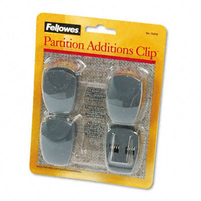 Plastic Partition Additions Clips (Plastic Partition Additions Clips, 4/Pack [Set of 2])