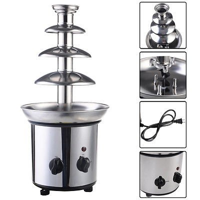 4 Tiers Commercial Stainless Steel Luxury Chocolate Fondue F