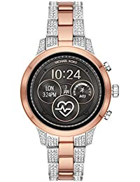Access Womens Runway Touchscreen Smartwatch Stainless Steel Bracelet watch, Two tone Rose gold tone and silver, MKT5056