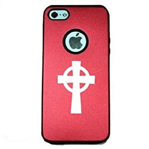 Celtic Cross iPhone 5 Case iPhone 5S Case - MetalTouch Red Aluminium Shell With Silicone Inner Protective Designer Case