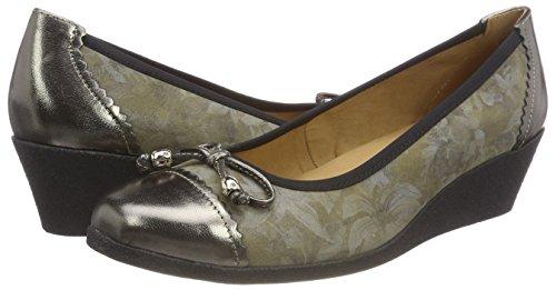 22351 Flowe co Tacco khaki Verde 791 Donna Con Scarpe Caprice fw4qd00