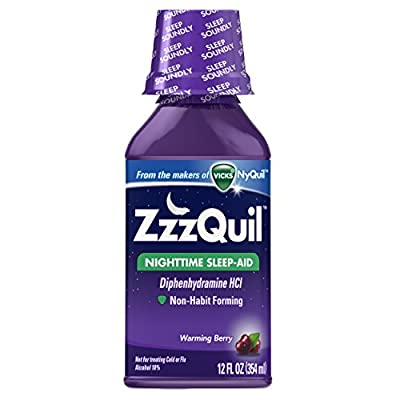 ZzzQuil Nighttime Sleep Aid, Warming Berry Liquid, 12 Fl Oz