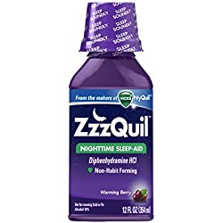 ZzzQuil Nighttime Sleep Aid, Warming Berry Liquid, 12 Fl Oz