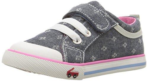 See Kai Run Girls' Kristin Sneaker, Chambray, 7 M US Toddler