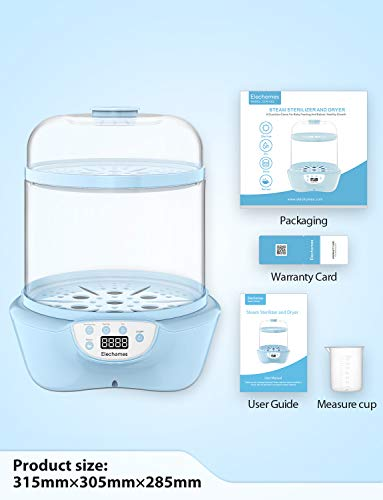 41F3PDZJUaL - Elechomes Baby Bottle Sterilizer And Dryer, BPA Free 600W Electric Steam Sterilizer, Fit For 8-Ounce Dr Brown Bottle And Easy To Operate