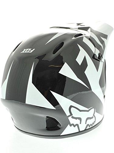 Fox Head Rampage Race Helmet, Black/White, Small