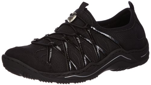 Rieker Ladies Casual Trainers L0564 - Black Synthetic - UK Size 7.5 - EU Size 41 - US Size 9.5 by Rieker
