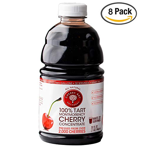 Cherry Bay Orchards Tart Cherry Concentrate - Natural Juice to Promote Healthy Sleep, 32oz Bottle (Case of 8)
