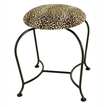 Vanity Swivel Stool Fabric: Shells - Metal Finish: Jade Patina