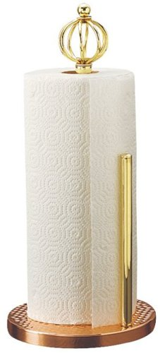 Old Dutch International Decor Copper Standing Paper Towel Holder, 15-Inch