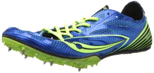 Endorfinas para hombre Saucony MD4 para correr para prendas de piel azul y amarillo