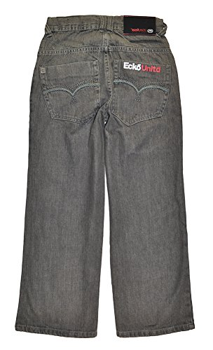 (ecko unltd. Big Boys' Jeans, Grey, 8)