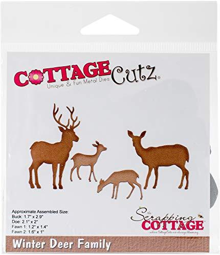 CottageCutz Winter Deer Family 1