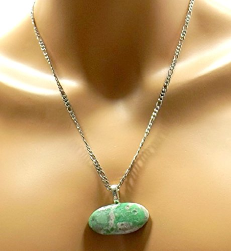 Variscite Green Gemstone Unisex Pendant ()