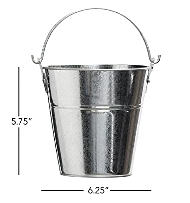 Metal Bucket for Grease with Grill / Smoker - Metal Pail With Handle - 2 Quarts