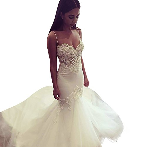 SHDRESS-Sexy-Beaded-Lace-Mermaid-Wedding-Dresses-Ivory-Pearls-Gowns-For-Bride