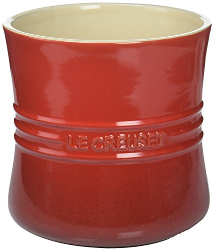 Le Creuset PG1003-67 Stoneware Utensil Crock, 2 3/4-Quart, Cerise (Utensil Holder Kitchen Red)