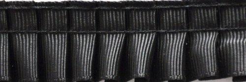 PLEATED TRIM Gathered Pleated Grosgrain Ribbon Roll, Black, 25-Yard ()