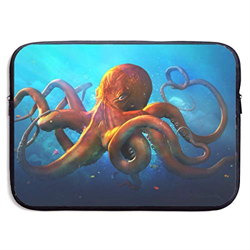CHJOO Laptop Sleeve Bag Cool Strong Octopus Leader 13/15 Inc