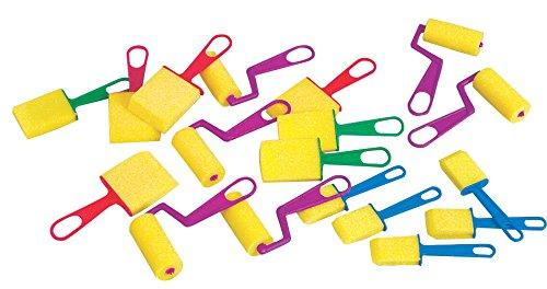 School Smart Foam Brushes Set - Assorted Sizes - Set of 40