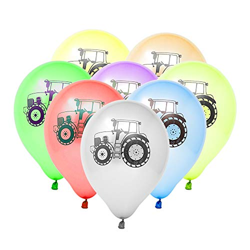 Tractor Party Balloons, Tractor Party Supplies, Kids Birthday Latex Balloons, Party Favors (24 Pieces) (Tractor Party Favors)