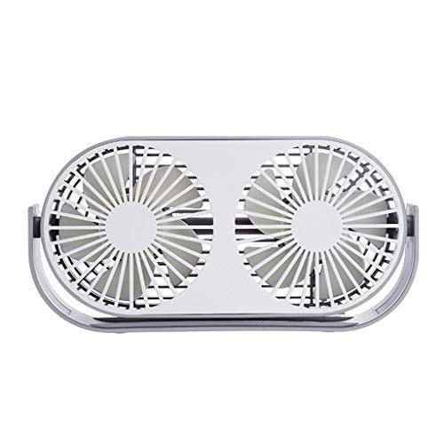 - Aobiny Fan,Mini Fan Double Head Portable 360 Rotation Car Desktop Cooling USB Charging