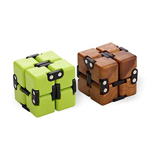 AngelarSea Mini Infinity Cube , Decompression ToyCool Mini Light Gadget Best Reduce Anxiety Puzzle Kill Time Kids Teens Adults2 Pack.