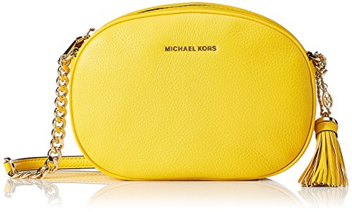 Michael Kors Md Messenger - Bolsos bandolera Mujer Amarillo (Sunflower)