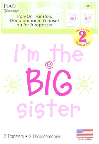Uptown Baby Color Transfer Iron-Ons 2/Pkg-I'm The Big Sister