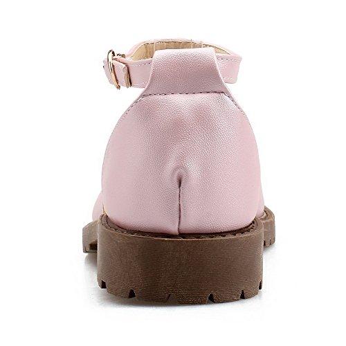 Aalardom Slido De Puntera Sandalias Cerrada Mujer Vestir kong Rosa Pu Mini Tacn Hebilla YrYgqw