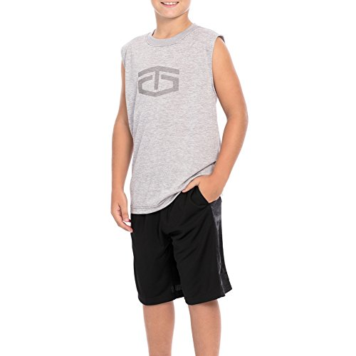 WWE Tapout Power Sleet Youth Muscle T-Shirt Gray Medium by WWE Authentic Wear