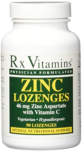 RX Vitamins Zinc Lozenges 46mg Lozenges, 90 Count Defense Lozenges Vitamins