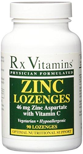 RX Vitamins Zinc Lozenges 46mg Lozenges, 90 Count (Lozenges Zinc Vitamins)