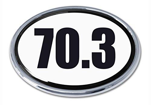 Elektroplate 70.3 (B&W) OvalChrome Auto Emblem