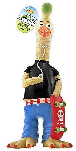 (Ruffin It Tony Mohawk Latex Chicken Pet Toy,)