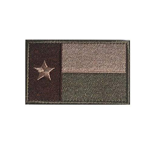 Sconosciuto Generic Patch Ricamate Stati Uniti Bandiera di Stato Patch Tattico 3D Patch Distintivo di Combattimento Tessuto Nazionale Bandiere Bracciale Distintivi di Stoffa: Texas Green