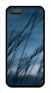 iPhone 5 5S Case Grass Fields TPU Custom iPhone 5 5S Case Cover Black