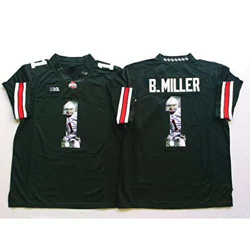 581f9bca9ad ... amazon special mens b.miller 1 ohio state buckeyes college football  jersey black best aaef6