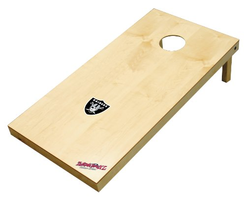Wild Sports NFL Oakland Raiders 2' x 4' Authentic Cornhole Game Set
