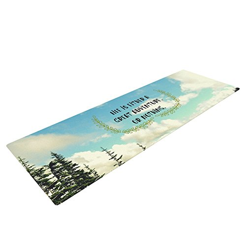 Kess InHouse Robin Dickinson Life is. Exercise Yoga Mat, Landscape Typography, 72