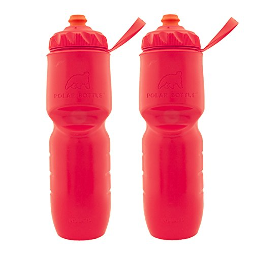 Polar Bottle 2 Pack Insulated Water Bottle 24 Oz BPA Free Sports Squeeze Water Bottles Handheld