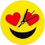 Mark Feldstein & Associates Inc. Emoji Glass Love 7 IN Clock